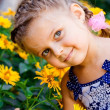 Stock Photo: Beautiful Happy Little Girl outdoor