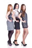 Three women isolated on white — Stock fotografie