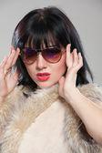 Fashionable lady — Stock Photo