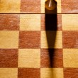 Wooden pawn — Stock Photo