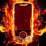 Burning phone — Stock Photo