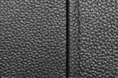 Black leather with seam — Foto Stock