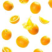 落和爆炸成熟的橘子 — 图库照片