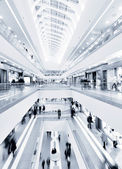 Panoramic view of a modern mall — Stock Photo