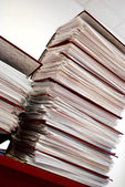 Stack of folders on a table — Stock Photo