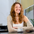 Young woman at cafe — Stock Photo #8081167