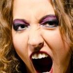 Женское лицо крупным планом — Стоковое фото #8081187