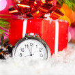 Royalty-Free Stock Photo: Gift box and clock