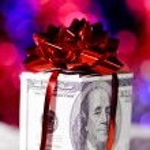 Gift box made of dollars — Stock Photo #8081531