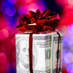 Gift box made of dollars — Stock Photo #8081557