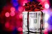 Yapılır dolarlık hediye kutusu — Stok fotoğraf