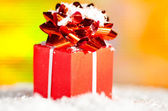 Red gift box — Stock Photo
