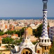 City view from Parc Guell - Stock Photo