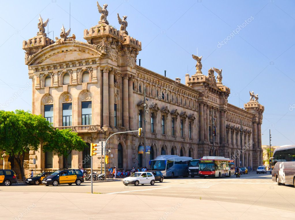 Edifici De La Duana, New Customs House, Barcelona, Spain — Stock Photo #8541709