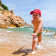 Playing on a sea coast — Stock Photo