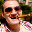 Man with cigar — Stock Photo #8585495