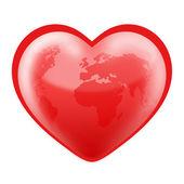 Heart Shaped World — Stock Photo