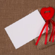White card for congratulation — Foto Stock