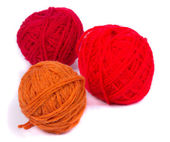 Red Balls of yarn — Stockfoto