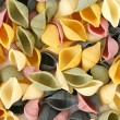Colorfull pasta shells — Stock Photo