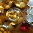 Stock Photo: Apricot compote