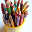 Royalty-Free Stock Photo: Pencils in a plastic glass