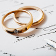 Rings and pen — Stock Photo #8567697
