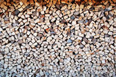 Firewood in pile — Stockfoto