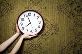 Relógio na parede — Foto Stock