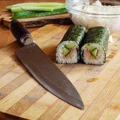 Rollos y cuchillo — Foto de Stock