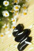 Black stones — Stock Photo