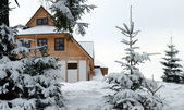 Winter house — Stock Photo