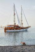Vintage frigate — Stock Photo