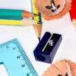 Stock Photo: Pencils and sharper