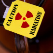 Label with sign radiation - Stock Photo