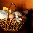Stock Photo: Easter cake in basket