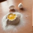 Flour and egg - Stock Photo