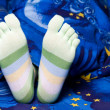 Green striped socks — Stock Photo #8573011