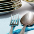 Stock Photo: Spoon and fork