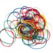 Color rubber bands — 图库照片