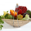 Vegetables in basket — Foto de Stock
