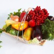 Vegetables in basket — Foto Stock