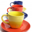 Stock Photo: Cups and saucers