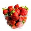 Strawberry in glass - Stock Photo