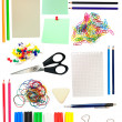 Stock Photo: Stationary objects on white