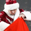 Santa Claus with bag — Stock Photo #8577646