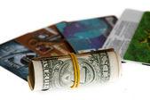 Roll und kreditkarte — Stockfoto