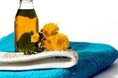 Olie en bloemen — Stockfoto