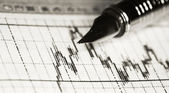 Financial diagram — Stock Photo
