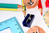 Pencils and sharper — Stock Photo